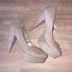 👠 Forever 21 Taupe heels 👠